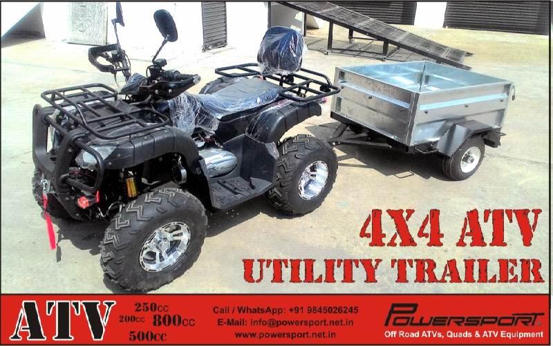atv pull behind trailers atv utility trailer farm trailers for Small Utility Trailers atv offroad box trailer