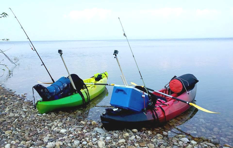 Kayaking gear for sale sit on top kayak with paddle for Kayak fishing gear
